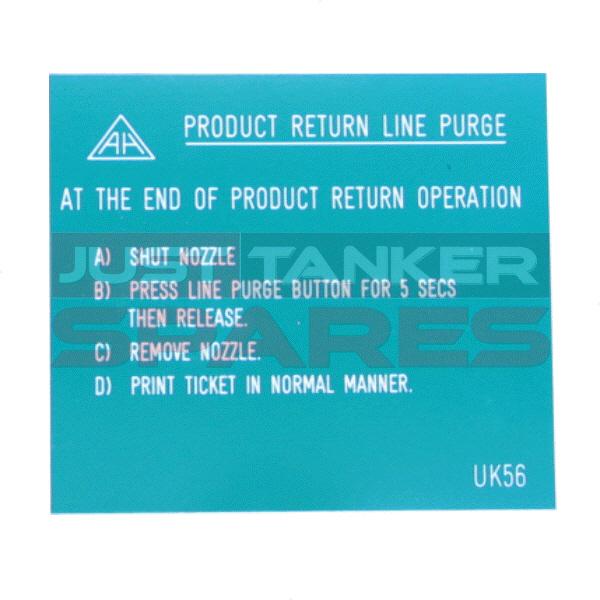 Alfons Haar Product Return Line Purge Label