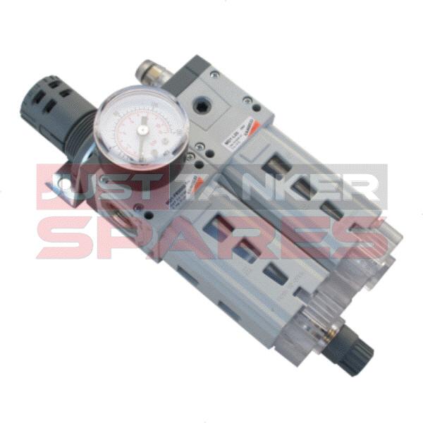 Camozzi Air Filter Regulator With Gauge
