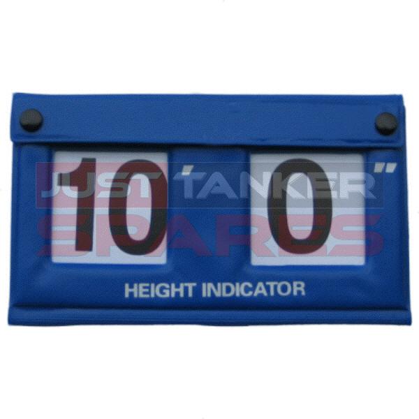 Height Indicator Blue Vinyl