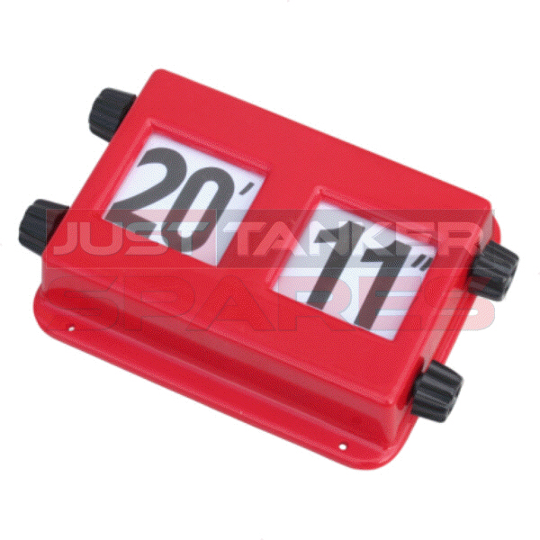 "Height Indicator Red Plastic 8"" - 20"""