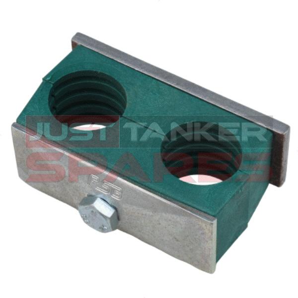 Hydraulic Pipe Clamp - Twin 25mm